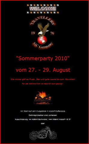 Travellers Sommerparty