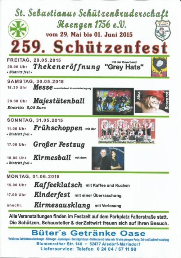 Thekeneröffnung – Schützenfest Hoengen
