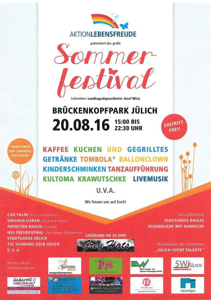 20.08.16 – Sommerfestival Aktion Lebensfreude