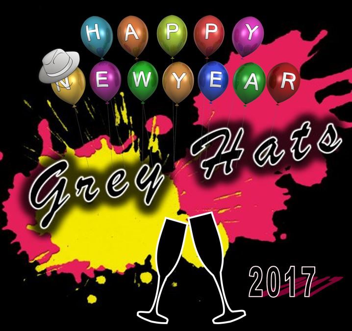 Happy New Year 2017 wünschen die Grey Hats