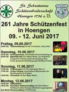Bald geht`s los … Schützenfest Hoengen